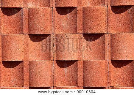 Cement wall in brick color