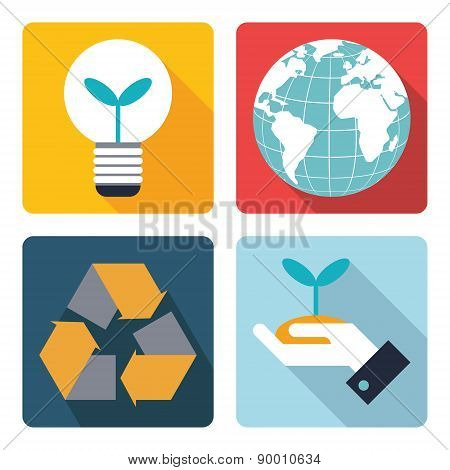 4 icon of save the world symbol.