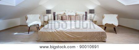 Bright Attic Bedroom