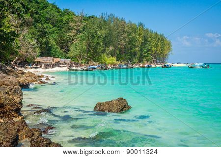 Bamboo Island Is One Other Island In The Andaman Sea Near Phi-phi Islands,thailand