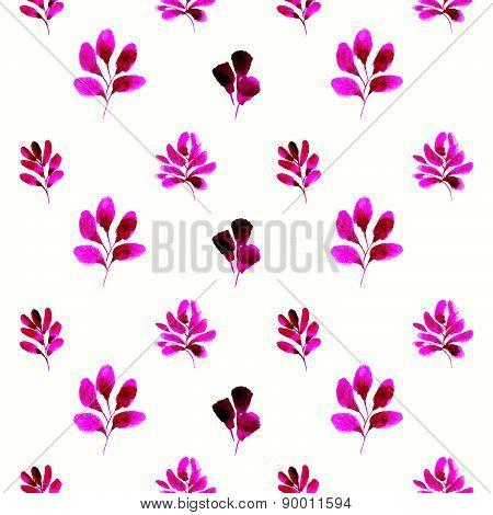 Vector Illustration With Original Floral Background.