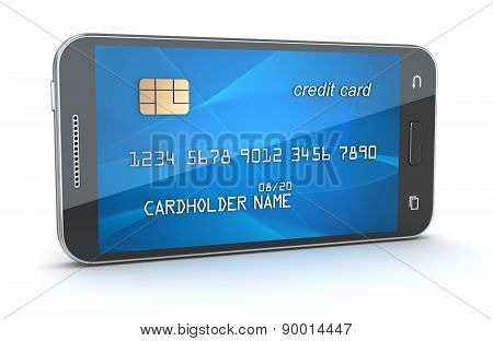 Smartphone With Creditcard Screen