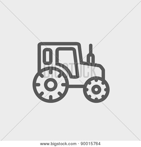 Offroad car icon thin line for web and mobile, modern minimalistic flat design. Vector dark grey icon on light grey background.