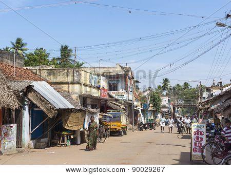 Street Scene In Kumbakonam Near Mahalingeswarar Temple.