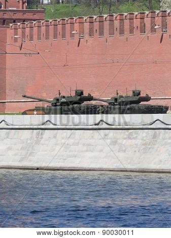 Two New Armata Tanks