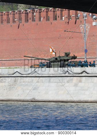 The New Tank Armata, With Flag