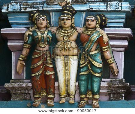 Detail Of Older Gopuram At Mahalingeswarar Temple.