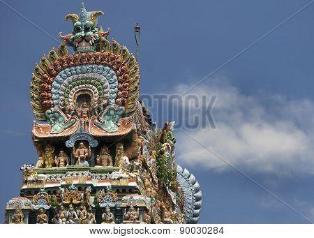 Cobra Top Of Gopuram At Mahalingeswarar Temple.