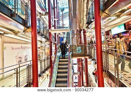 View To The Modern Shopping Center Zeilgalerie In Frankfurt Build By  Juergen Schneider