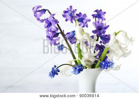 Closeup of fresh hyacinth flowers