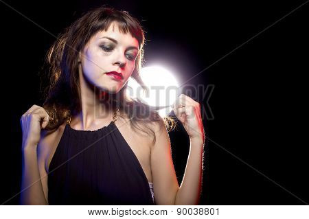 Lonely Drunk Girl at Nightclub