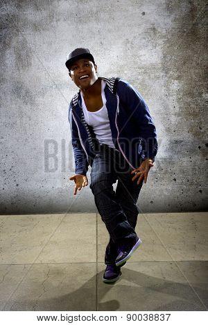 Urban Hip Hop Dancer Wearing a Hoodie
