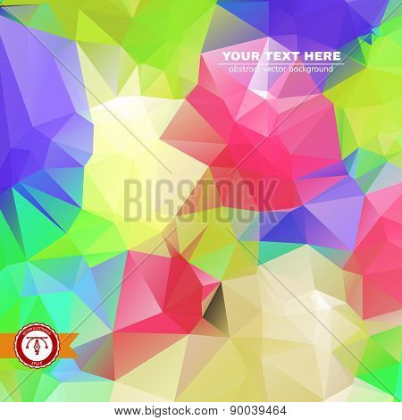 Abstract Colorful Triangles Background for Business Presentation. Vector