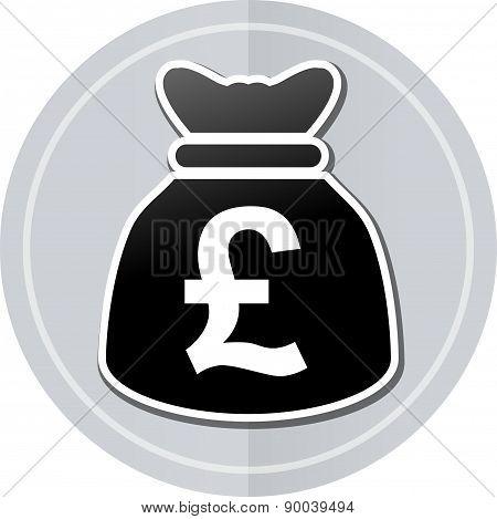 Pounds Bag Sticker Icon