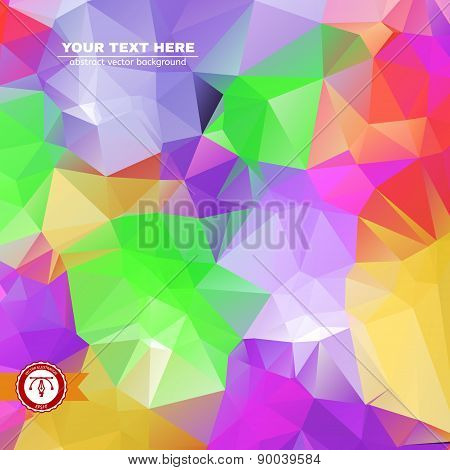 Abstract Colorful Triangles Background. Vector illustration