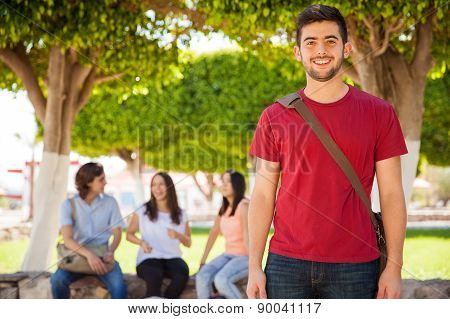Hispanic College Student Smiling