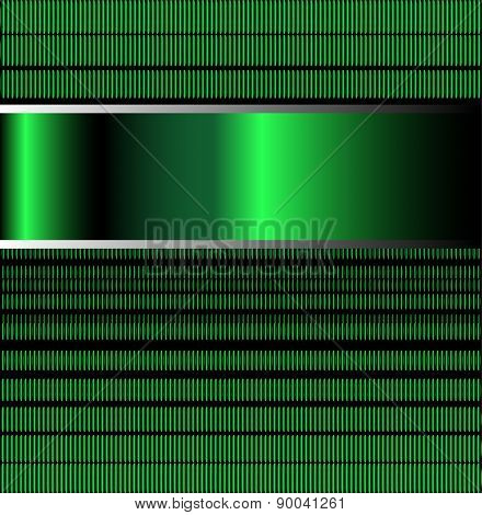 Green background vector for text message for design