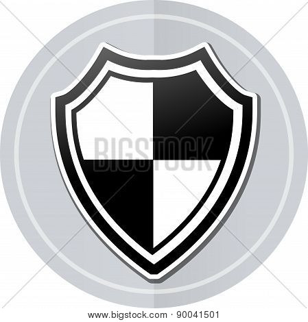 Shield Sticker Icon
