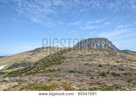 Landscape Of Witse-oreum And Plateau In Hallasan Mountain