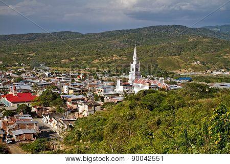 Beautiful city of Montecristi in the Ecuadorian coast
