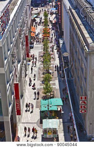 View To Liebfrauenstrasse In Frankfurt Near Zeil