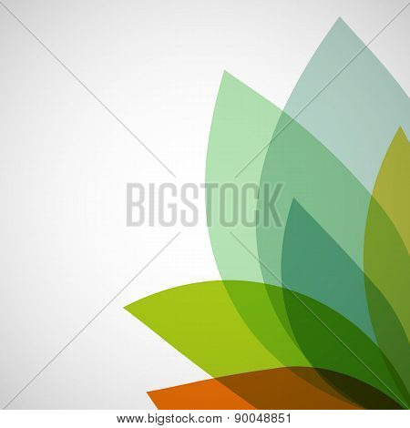 Abstract Background Of Transparent Leaves.