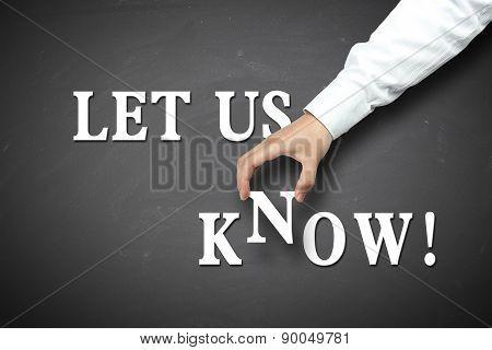 Business Let Us Know Concept