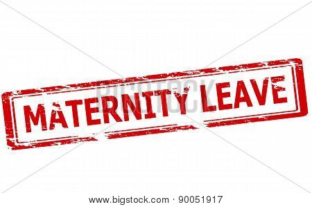 Rubber stamp with text maternity leave inside vector illustration