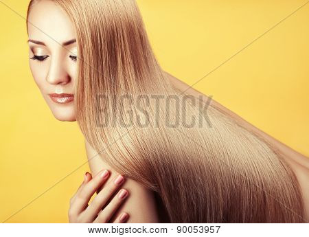 Close-up Portrait With Long Hair.