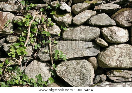 Rock Fence Background