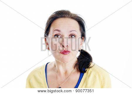 Unimpressed Woman