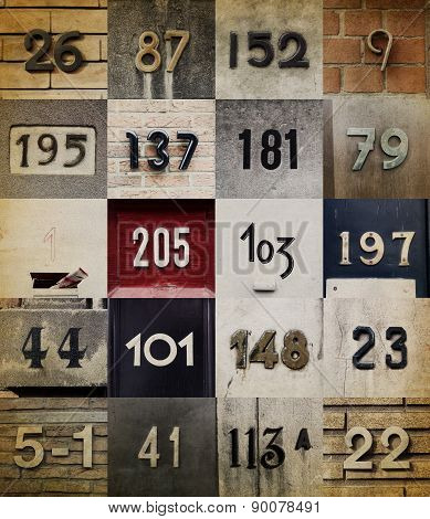 Collection of House numbers