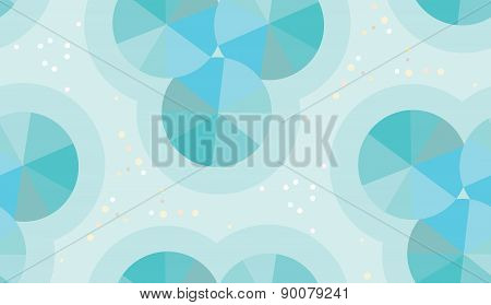 Abstract Blue Wheels Pattern