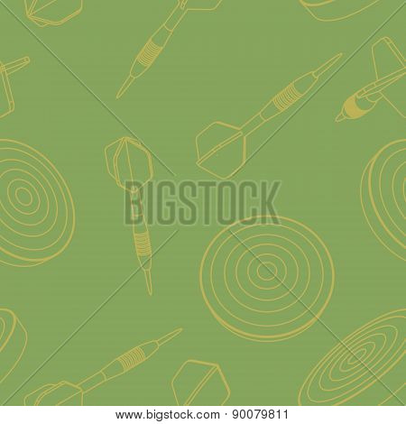 Vector seamless of  dartboard and dart arrow