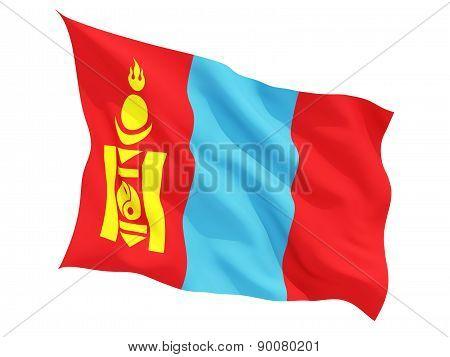 Waving Flag Of Mongolia