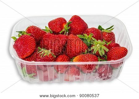 Plastic Tray With Strawberries
