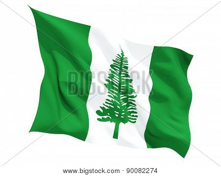 Waving Flag Of Norfolk Island
