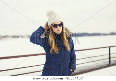 Pretty Hipster Girl In Urban Style Outdoors