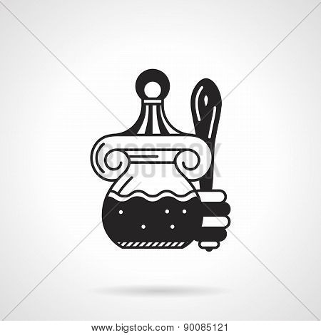 Black vector icon for honey jar