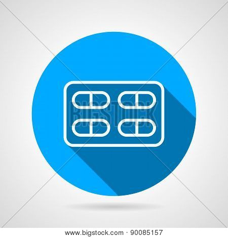 Blister with pills flat vector icon