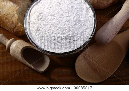Flour And Wooden Appliances