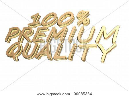 Three-dimensional Inscription 100 Percent Premium Quality