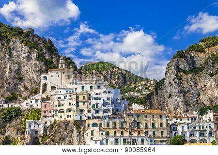 view of beautiful Amalfi. Italy