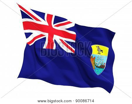 Waving Flag Of Saint Helena