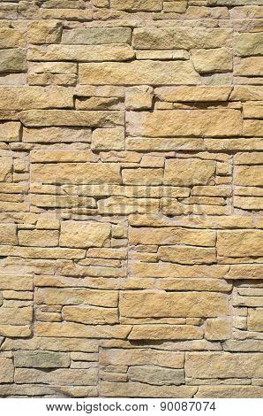 Yellow Cladding Tiles Imitating Stones