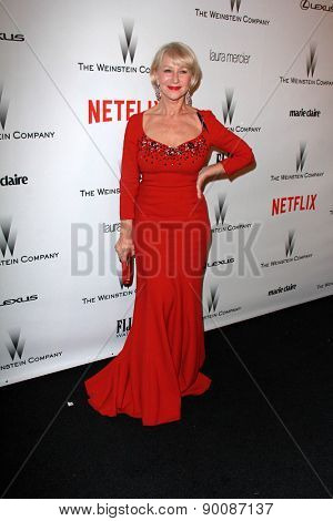 LOS ANGELES - JAN 11:  Helen Mirren at the The Weinstein Company / Netflix Golden Globes After Party at a Beverly Hilton Adjacent on January 11, 2015 in Beverly Hills, CA