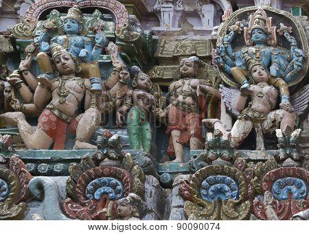 Blue Lord Vishnu Sits On Garuda times two.
