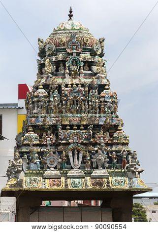 Short Gopuram On Empty Shrine In Front Of Sarangapani Temple.