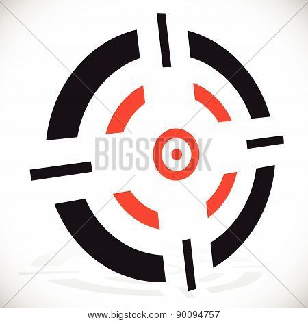 Crosshair, Reticle Vector Graphics. Eps 10 Vector