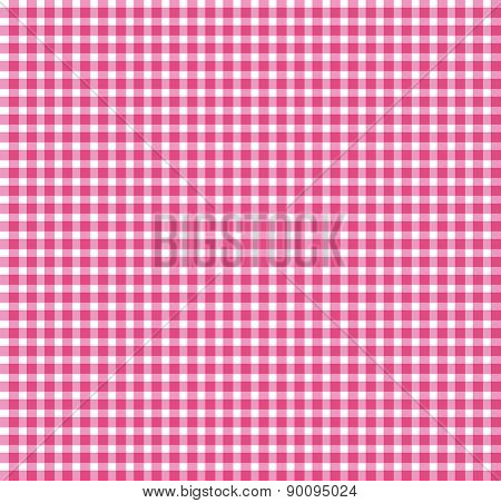 Red Chequered Tablecloth Texture. Repeatable, Seamless Pattern